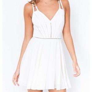 Silence + Noise White Mini Dress